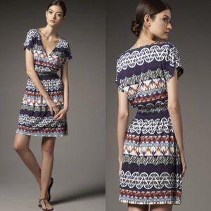Tory Burch Arjeta Multicolor Print Silk Dress XS